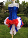 Mardi Gras Carnival Corset with Feather Bustle (Queenie!)
